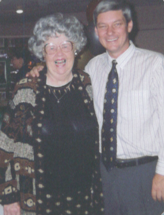 Scott and Wynne celebrating Scott's Marconi Award in 1999.